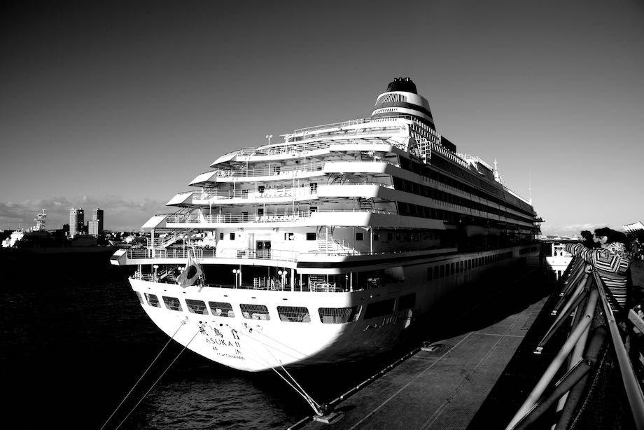 大さん橋、大型客船