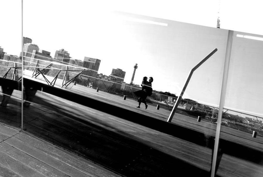 大さん橋、モノクロ