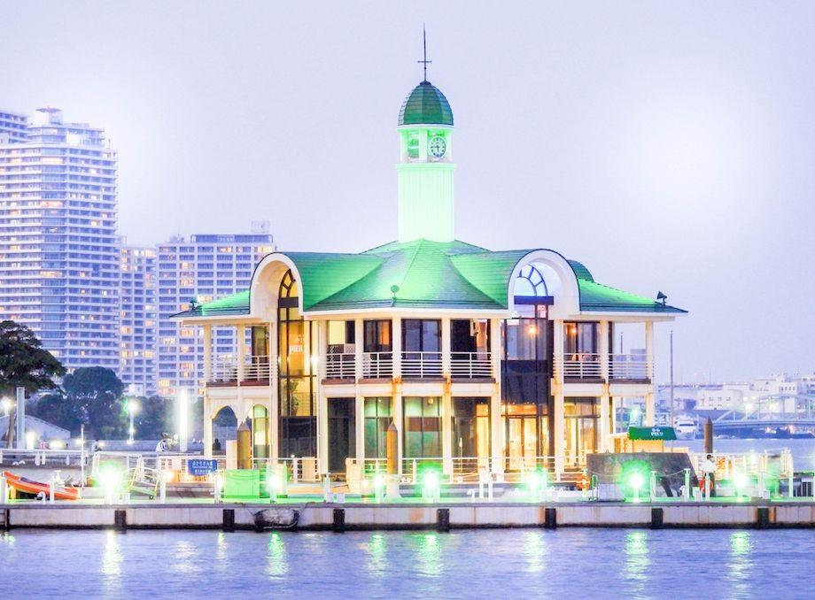 ぷかり桟橋の夜景の画像