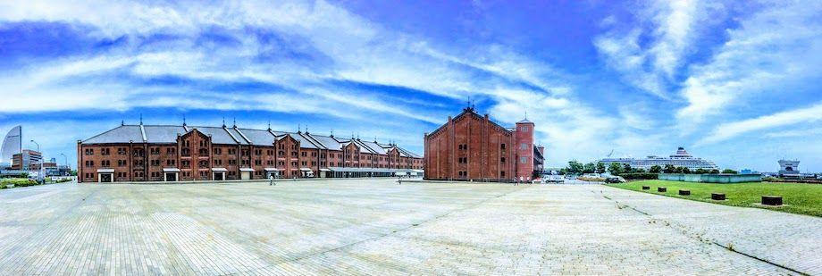 赤レンガ倉庫の全景の画像