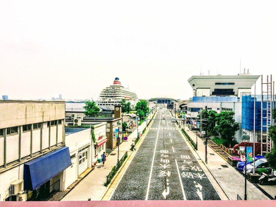 横浜おすすめジョギングコース、大さん橋入口の画像