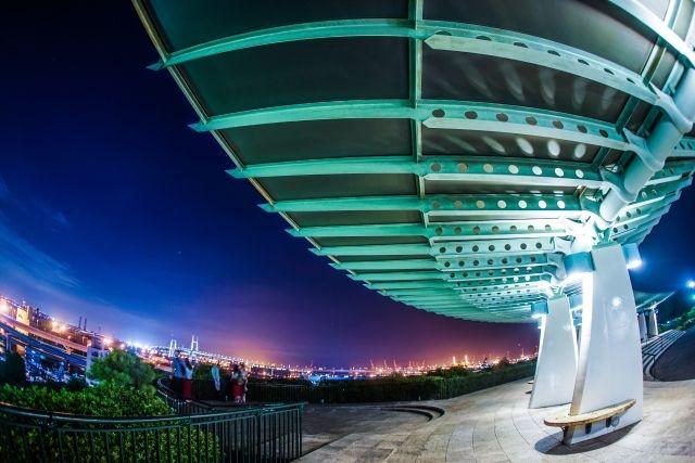 港の見える丘公園の夜景の画像-2