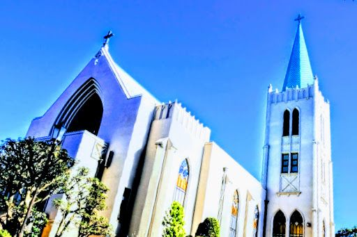 横浜山手のおすすめジョギングコース、カトリック教会の画像
