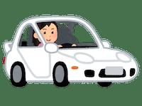 車の中をオンライン英会話の場所にするアイデアのイメージ画像