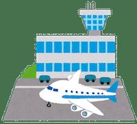 空港の各施設をオンライン英会話の場所にするアイデアのイメージ画像