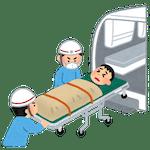 救急対応をする大学職員のイラスト