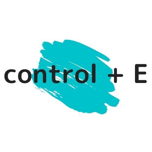 control + Eの図解の画像