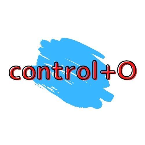 control + Oの図解の画像