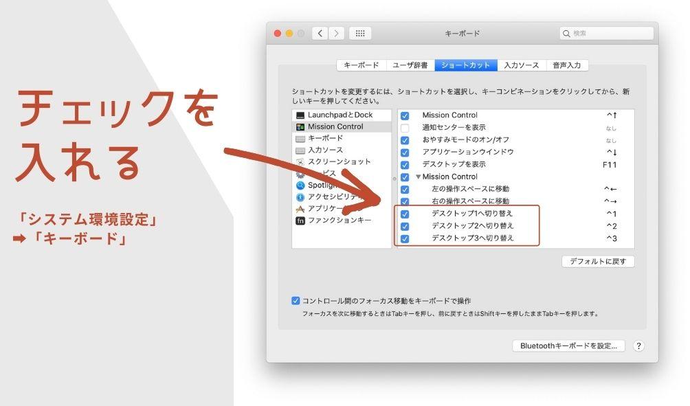 Macで画面を分割した後の注意点の説明画像