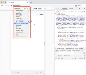 WordPressビギナーにも役立つ検証機能の使い方のスマホ表示の仕方の説明画像